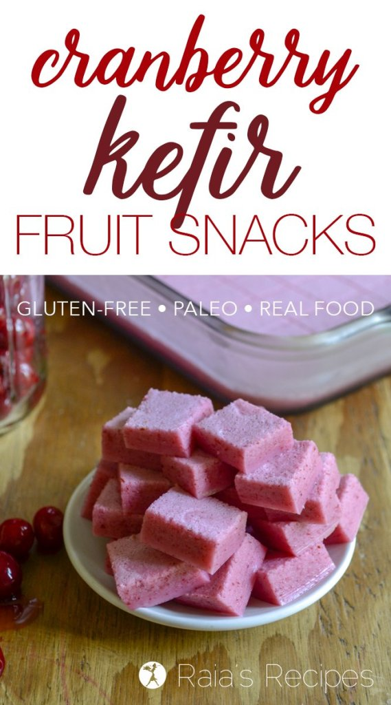 Tart and tasty Cranberry Kefir Fruit Snacks - paleo, real-food