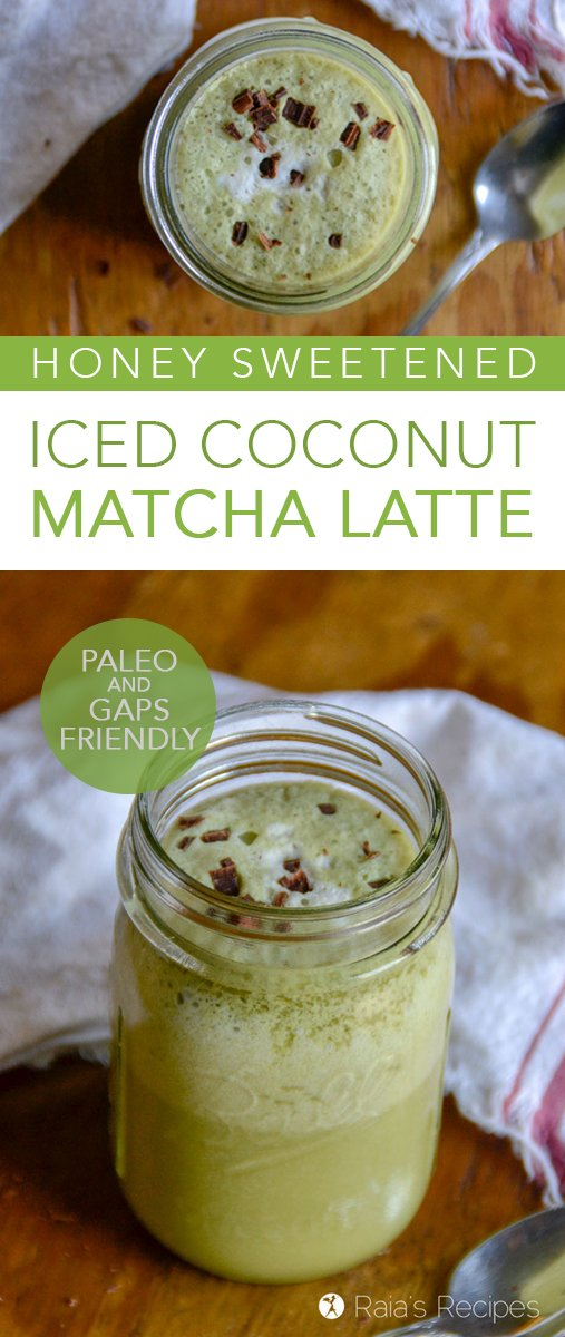 Need a healthy and delicious coffee alternative? Give this Iced Coconut Matcha Latte a try! It's packed with nutrition and ready to give you a gentle energy boost. #matcha #realfood #glutenfree #paleo #gapsdiet #refinedsugarfree #dairyfree #coconutmilk #drinks #herbal