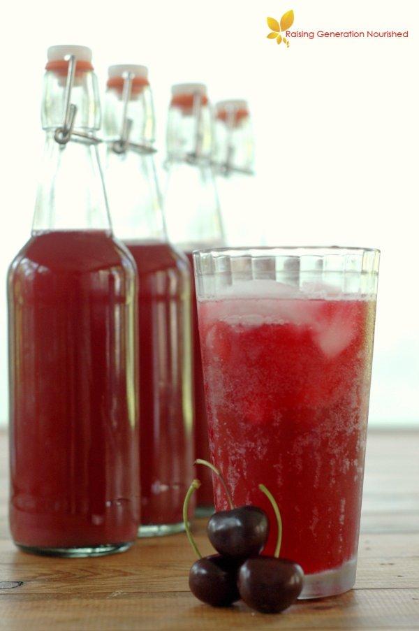 Paleo Summer Drinks Cherry Almond Soda