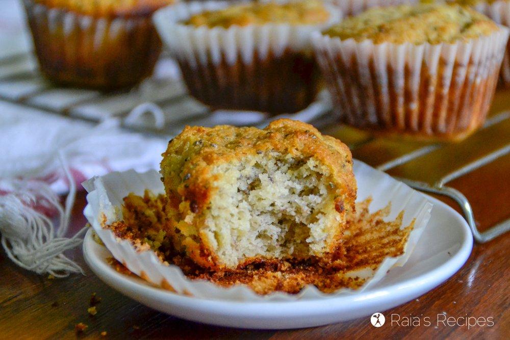 Banana Lemon Chia Seed Muffins 2