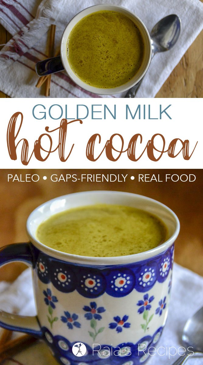 Spice up your hot cocoa life and nourish yourself at the same time with this delicious Golden Milk Hot Cocoa.