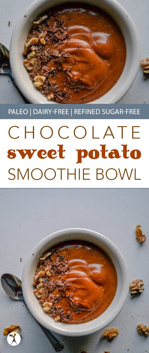 The perfect blend of summer and fall, this paleo Chocolate Sweet Potato Smoothie Bowl is brimming with flavor and healthy enough for a nutritious and delicious breakfast!