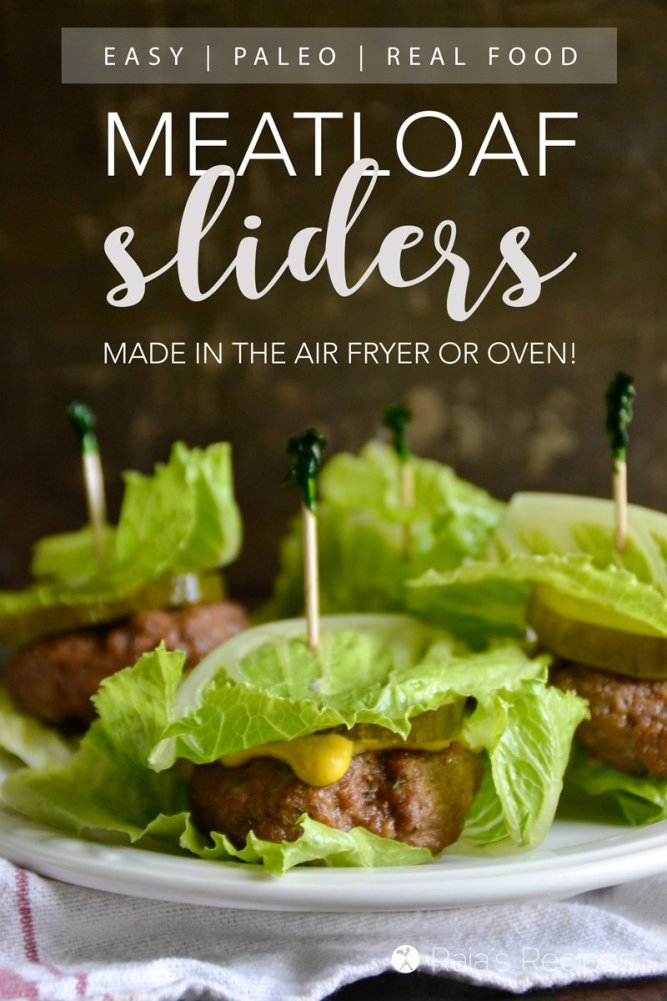 Juicy, delicious, and surprisingly easy, these paleo Meatloaf Sliders are a fun way to switch up a classic meal.