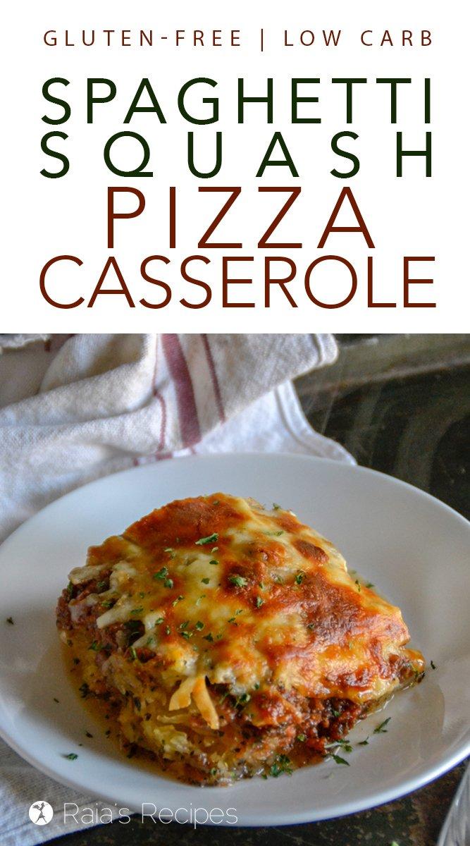 Spaghetti Squash Pizza Casserole #glutenfree #lowcarb #keto #spaghettisquash #pizza #casserole