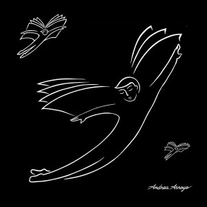 """¡Hasta Encontrarlos! (Until they find them). Let's not let the light of solidarity be extinguished! © Andrea Arroyo 2015 (Mexico/US) """"43 - Wings of Knowledge"""" Digital Art."""