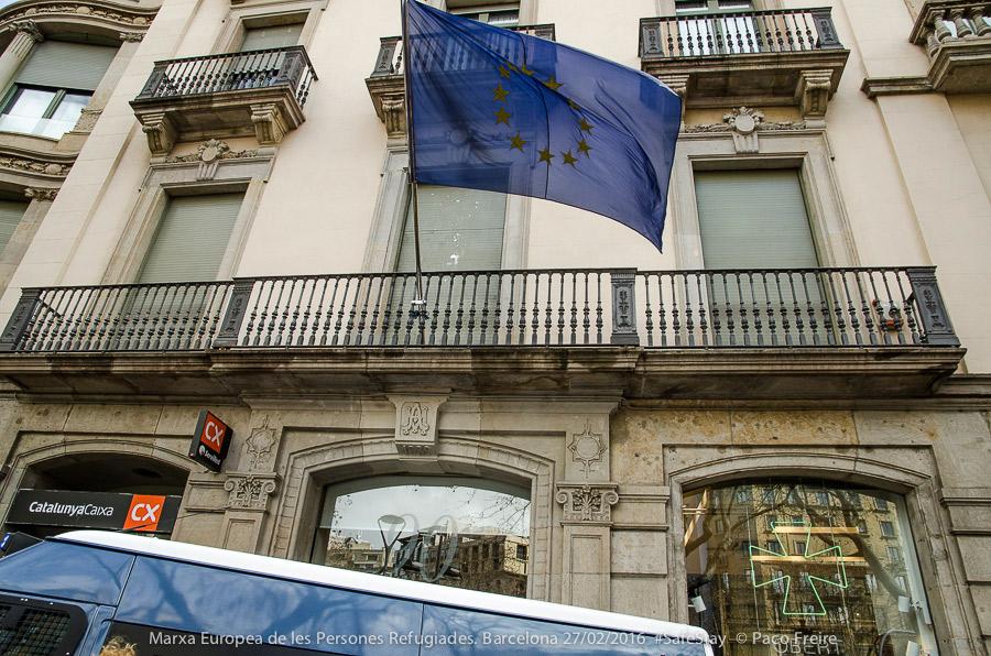 Sede de la Unión Europea en Paseo de Gràcia, 90. Foto: Paco Freire