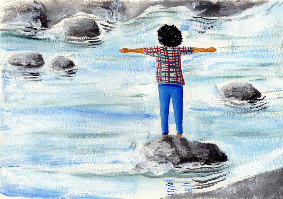 La madre de todos los ríos. Ilustración: Augusto Metztli, originalmente publicada en Boreal