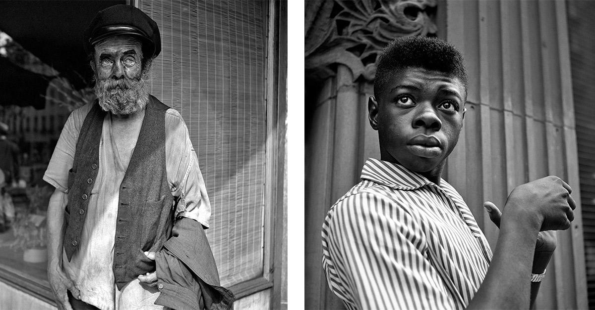 Fotos de la página de Vivian Maier. Izquierda: New York, NY. Derecha: July 1956