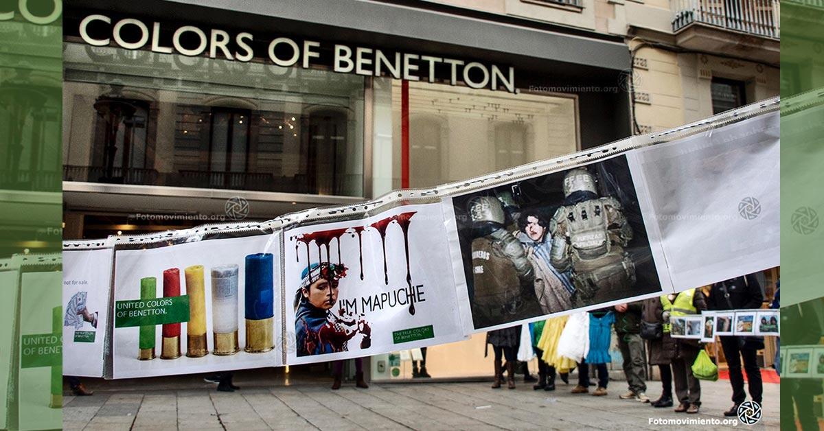 Protesta frente a la tienda Benetton