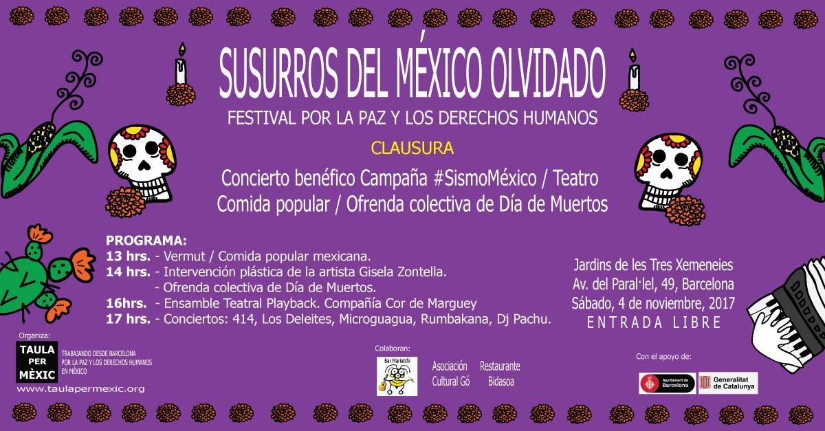 Clausura del Festival Susurros del México olvidado