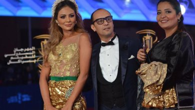 """صورة """"غيثة الحمامصي"""" تخلق ضجة بفستان من الذهب بالمهرجان الدولي للسينما في مراكش"""