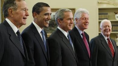صورة وظائف رؤساء الولايات المتحدة قبل تولي منصب الرئاسة