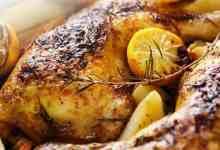 صورة دجاج مشوي بالأعشاب والليمون