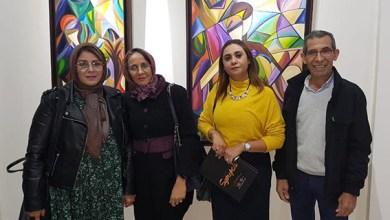 """صورة """"تشابك"""" معرض تشكيلي لأبرز الفنانين المغاربة برواق شوفالي بالدار البيضاء : عبد المجيد رشيدي"""