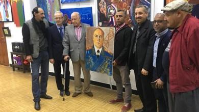 صورة الفنان هشام لواح يفتتح معرضه التشكيلي في رواق المركز الثقافي الروسي في الرباط