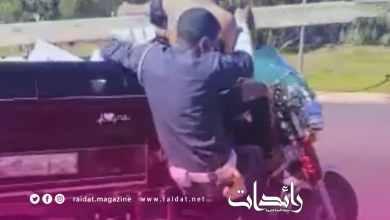 صورة فيديو كامل لتفاصيل اعتداء سائق دراجة نارية على رجل الامن بسلا