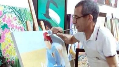 صورة الفنان التشكيلي مصطفى ندلوس: الرسم للوطن ينبع من القلب