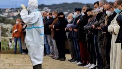 صورة جنازة جثمان الراحل محمد السندي إلى مثواه الأخير بمقبرة المجاهدين بطنجة