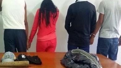 صورة توقيف 4 أشخاص من بينهم فتاة يكونون عصابة اجرامية مختصة بالنصب والسرقة بطنجة