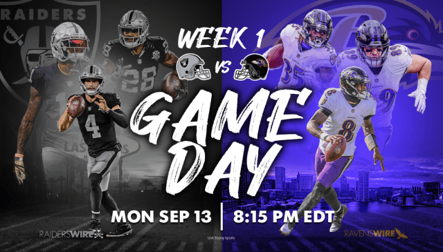 Raiders vs. Ravens: Time, TV schedule, odds, streaming, how to watch