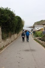The walk down to Lulworth