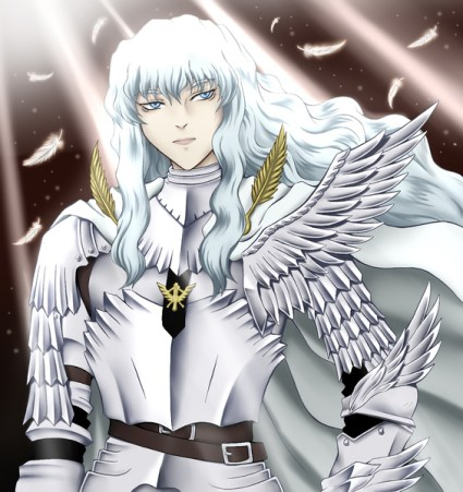 Griffith of the image together smile, kiss and crying face