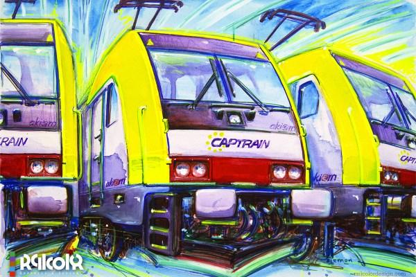 TRAXX painting for Captrain Italia