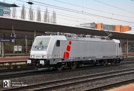 Maiden run of Akiem 186 384 on 27.03.2018 - Kassel - Photo: Christian Klotz