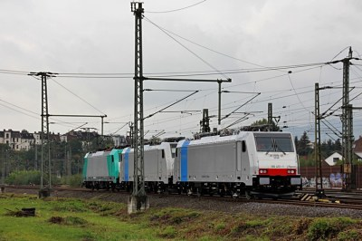 Railpool 186 451 with 186 438 and 186 346 - Photo: Christian Klotz