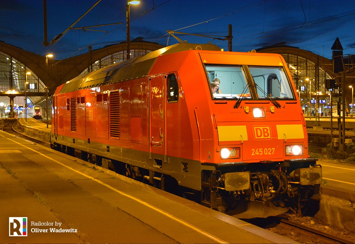[DE] DB 245 027 in Leipzig for Gotha - Gera IC driver training