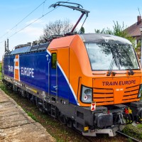 [RO] ELL 193 741 now in orange/blue Train Europe design