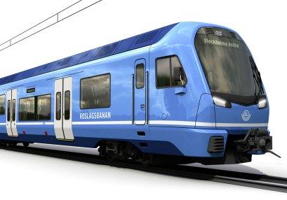 Impression of the future X15P for the Roslandsbanan - STadler Rail