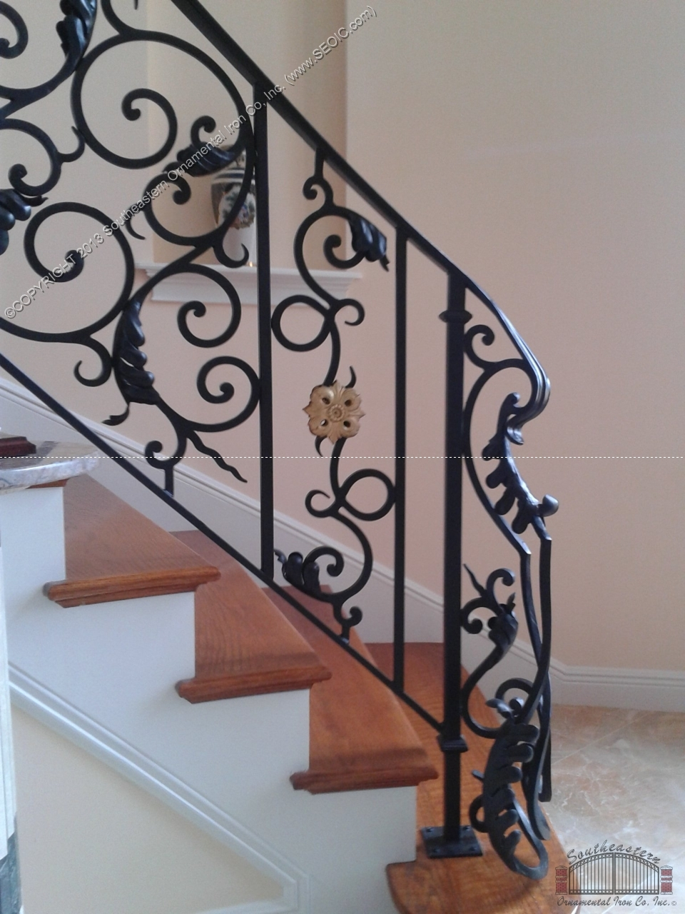 Southeastern Ornamental Iron Works | Wrought Iron Stair Railing Cost | Spiral Staircase | Traditional | Background | Raw Iron | Rot Iron