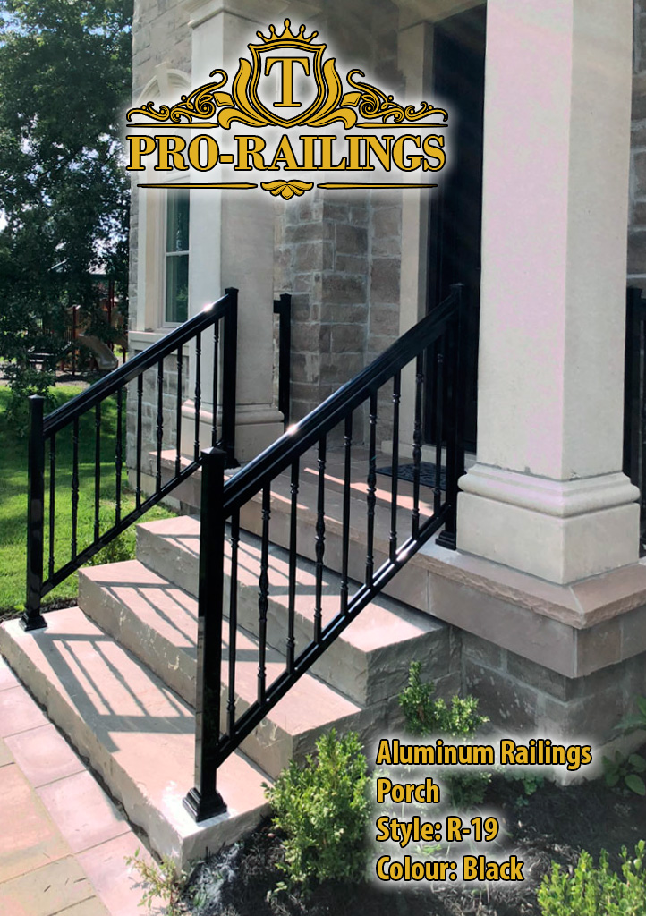 TorontoProRailings-AluminumRailings-R-19-Style-Black-porch