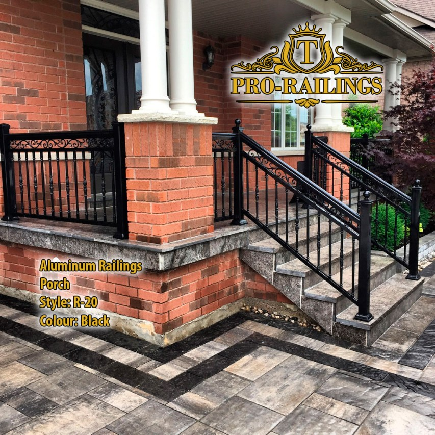 TorontoProRailings-AluminumRailings-R-20-Style-Black-porch