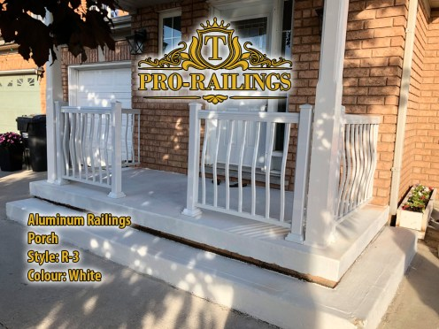 TorontoProRailings-AluminumRailings-R-3-Style-White-Porch