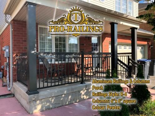 TorontoProRailings-AluminumRailings-R-4-Style-Aluminum-Columns-6x6-square-Pewter-Porch