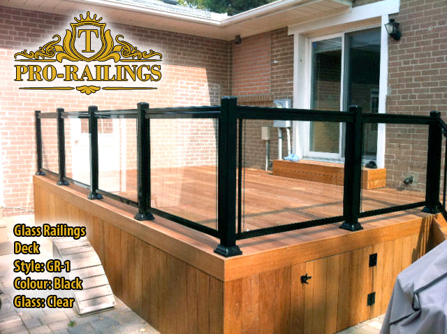 TorontoProRailings-Glass-Railings-Style-GR-1-Colour-Black-Glass-Clear-Deck
