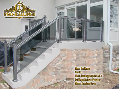 TorontoProRailings-Glass-Railings-Style-GR-5-Railings-Colour-Pewter-Glass-Smoked-Grey-Porch