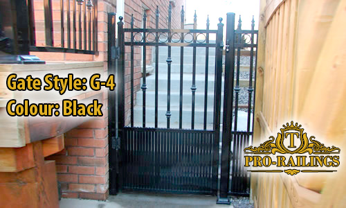 TorontoProRailings-Aluminum-Gate-Style-G-4-Colour-Black