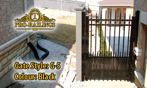 TorontoProRailings-Aluminum-Gate-Style-G-5-Colour-Black