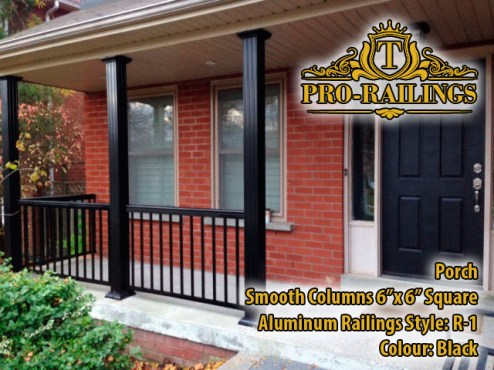TorontoProRailings-Aluminum-Smooth-Columns-6x-6-Square-Aluminum-Railings-Style--R-1-Colour--Black-Porch