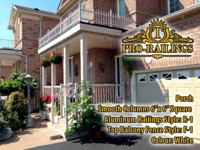 TorontoProRailings-Aluminum-Smooth-Columns-6x-6-Square-Aluminum-Railings-Style--R-1-Top-Balcony-Fence-Style--F-1-Colour--White-Porch