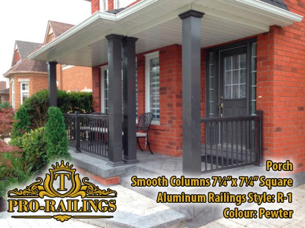 TorontoProRailings-Aluminum-Smooth-Columns-7_25x7_25-Square-Aluminum-Railings-Style--R-1-Colour--Pewter-Porch