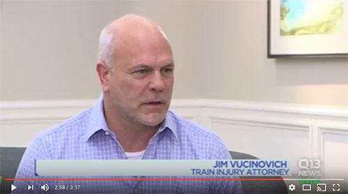 James K Vucinovich Q13 Railroad Injury Video