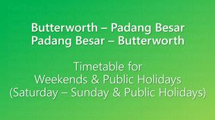 Icon KTM Komuter Timetable Butterworth Padang Besar Weekends 310