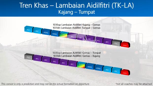 Train Consist Tren Khas Lambaian Aidilfitri TK-LA 2018 01