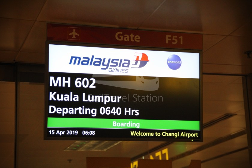 Malaysia Airlines MH602 SIN KUL for LHR 027