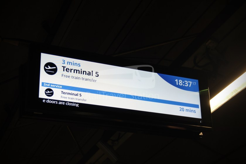 TfL Rail Heathrow Express Terminal 4 Terminal 5 040