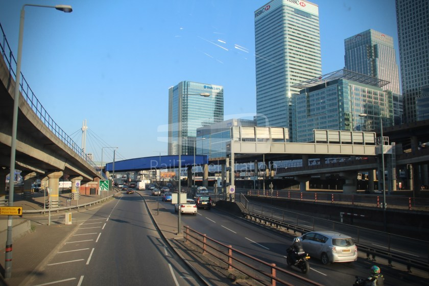 DLR Rail Replacement Bus Service A Tower Gateway Canary Wharf 025